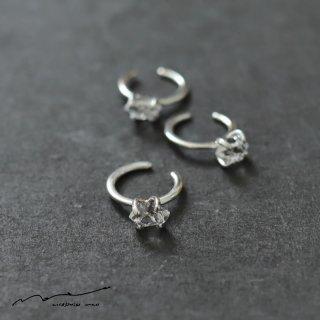 accessories mau (アクセサリー マウ)  ハーキマーダイヤモンド イヤーカフ silver