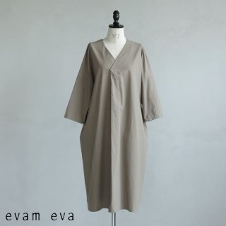 evam eva(エヴァム エヴァ) 【2021ss新作】コットンVネック ワンピース / cotton V neck one-piece amber (46) E211T068