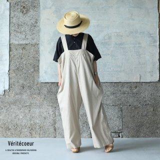 Veritecoeur(ヴェリテクール)【2021SS新作】オーバーオール BEIGE / VC-2268