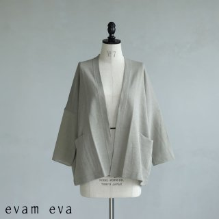 evam eva(エヴァム エヴァ) 【2021ss新作】ドライシルクカーディガン / dry silk cardigan grege (14) E211K102