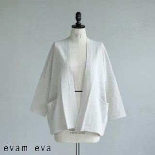 evam eva(エヴァム エヴァ) 【2021ss新作】ドライシルクカーディガン / dry silk cardigan antique white (14) E211K102
