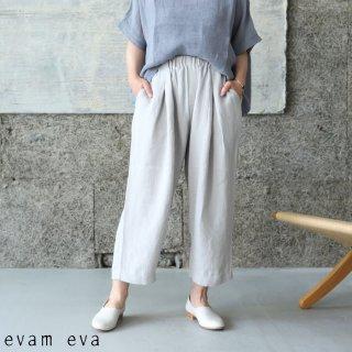 evam eva(エヴァム エヴァ) 【2021ss新作】リネンタックパンツ / linen tuck pants grege (14) E211T074