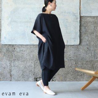 evam eva(エヴァム エヴァ) 【2021ss新作】リネンポンチョ / linen poncho sumi (98) E211T122