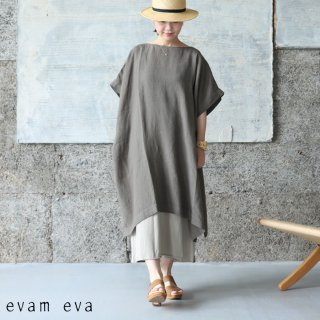 evam eva(エヴァム エヴァ) 【2021ss新作】リネンポンチョ / linen poncho amber (46) E211T122