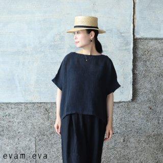 evam eva(エヴァム エヴァ) 【2021ss新作】リネンボイルプルオーバー / linen voile pullover sumi (98) E211T142