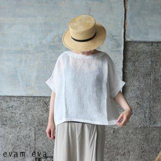 evam eva(エヴァム エヴァ) 【2021ss新作】リネンボイルプルオーバー / linen voile pullover antique white (14) E211T142