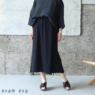 evam eva(エヴァム エヴァ) 【2021ss新作】ラップスカート / wrap skirt black (90) E211K116