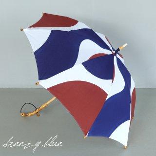 breezy blue ブリージーブルー 晴雨兼用 日傘 UV加工 注染 長傘 mizutamari