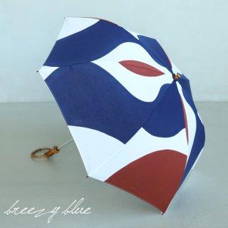 breezy blue ブリージーブルー 晴雨兼用 UV加工 注染 折りたたみ日傘 mizutamari