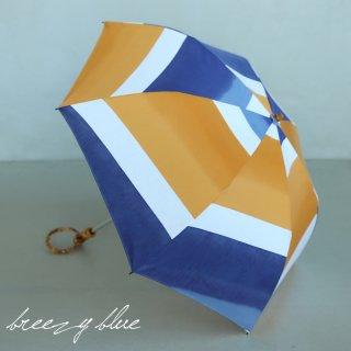 breezy blue ブリージーブルー 晴雨兼用 UV加工 注染 折りたたみ日傘 akatuki