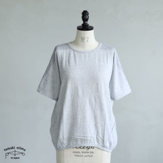 tamaki niime(タマキ ニイメ) 玉木新雌 maru t HALF SLEEVES サイズ2 30 ライトグレー系 cotton100% マル T 半袖 コットン100%