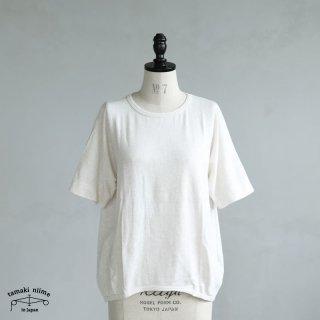 tamaki niime(タマキ ニイメ) 玉木新雌 maru t HALF SLEEVES サイズ2 35 ホワイト系 cotton100% マル T 半袖 コットン100%