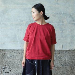 tamaki niime(タマキ ニイメ) 玉木新雌 maru t HALF SLEEVES サイズ2 49 レッド系 cotton100% マル T 半袖 コットン100%