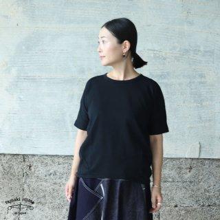 tamaki niime(タマキ ニイメ) 玉木新雌 maru t HALF SLEEVES サイズ2 47 ブラック系 cotton100% マル T 半袖 コットン100%
