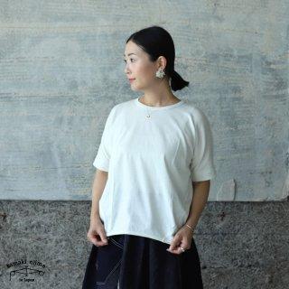 tamaki niime(タマキ ニイメ) 玉木新雌 maru t HALF SLEEVES サイズ2 45 ホワイト系 cotton100% マル T 半袖 コットン100%
