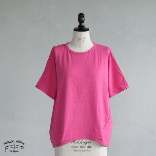 tamaki niime(タマキ ニイメ) 玉木新雌 maru t HALF SLEEVES サイズ2 43 ピンク系 cotton100% マル T 半袖 コットン100%