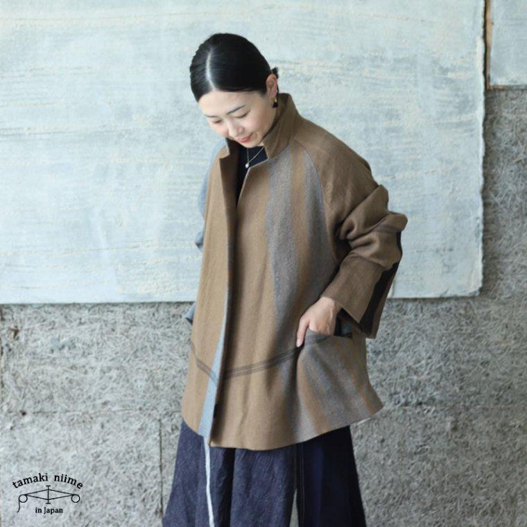 tamaki niime(タマキ ニイメ) 玉木新雌 only one プトン wool70% cotton30% ウールジャケット ウール70% コットン30%