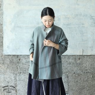 tamaki niime(タマキ ニイメ) 玉木新雌 only one プトン 02 wool70% cotton30% ウールジャケット ウール70% コットン30%