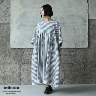 Veritecoeur(ヴェリテクール)【2021AW新作】ストライプワンピース BOLD NVY.ST / VC-2299B(ST)