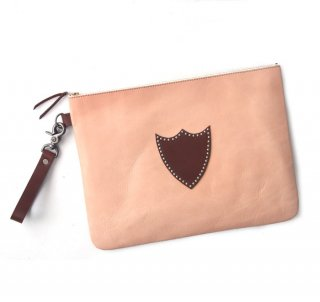 Leather Clutch bag / Natural
