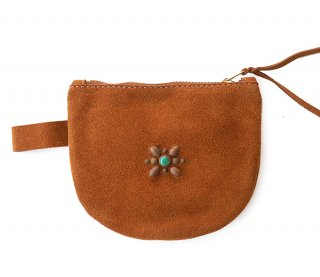 Multi Pouch Wallet / Suede Camel