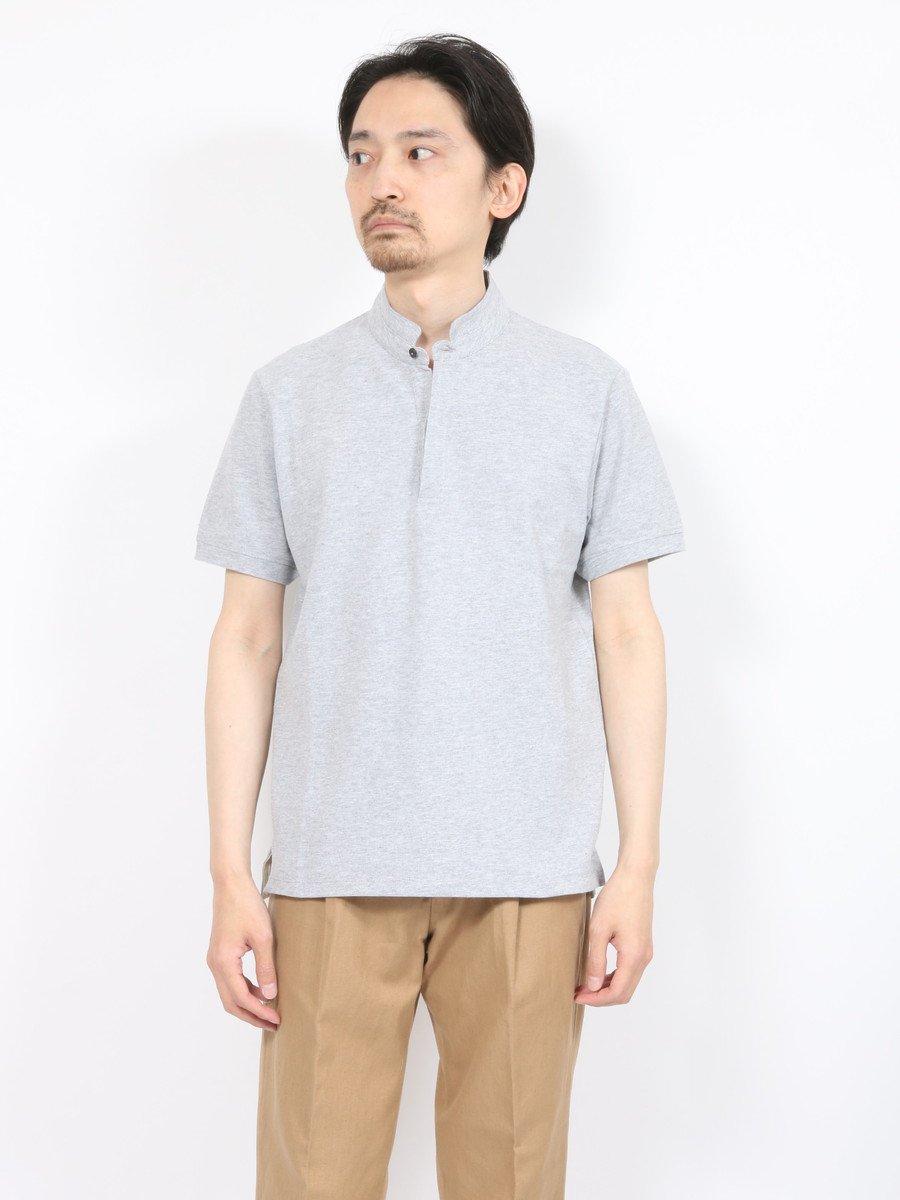 【DANIELE FIESOLI】<br>スタンドカラー鹿の子ポロシャツ