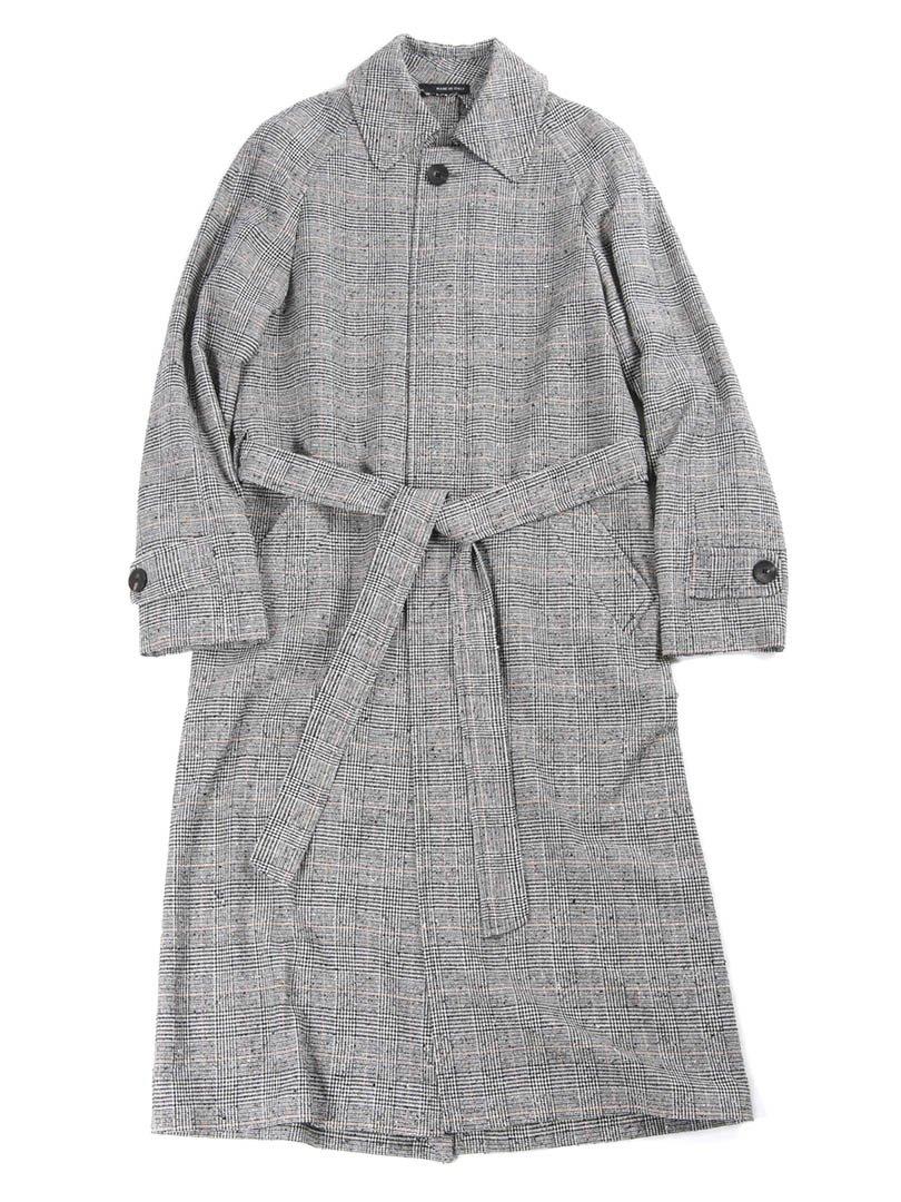 【RUSSI】<br>グレンチェックステンカラーコート