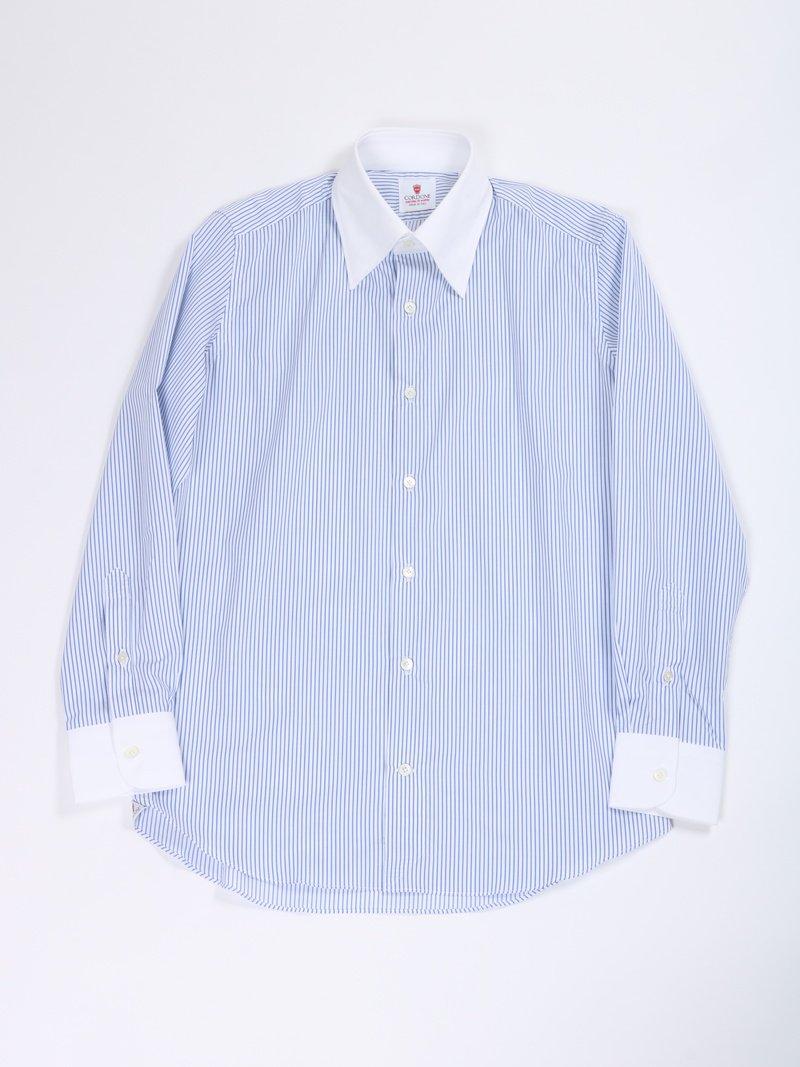 【Cordone 1956】<br>ストライプクレリックシャツ