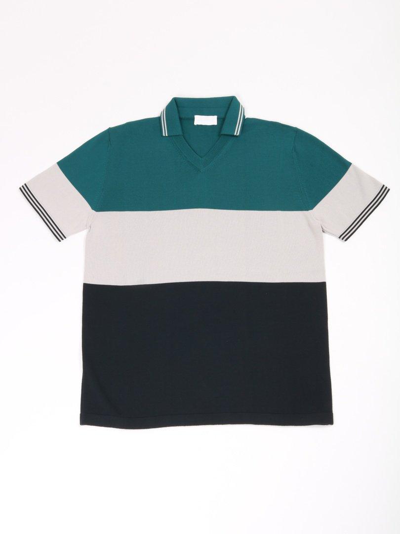 【roberto collina】<br>スキッパーポロシャツ