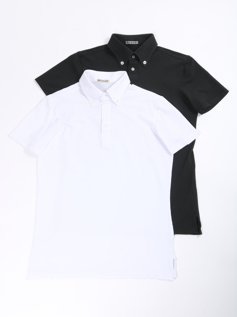 【NAKED】<br>鹿の子ポロシャツ