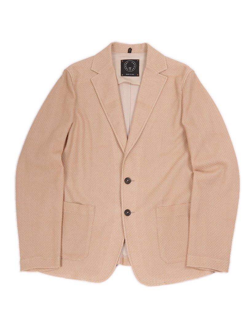 【T-JACKET】<br>コットンメッシュジャケット