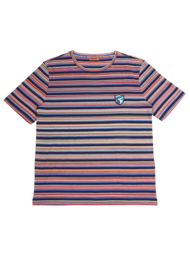 【MISSONI】<br>ワッペン付きコットンスラブTシャツ