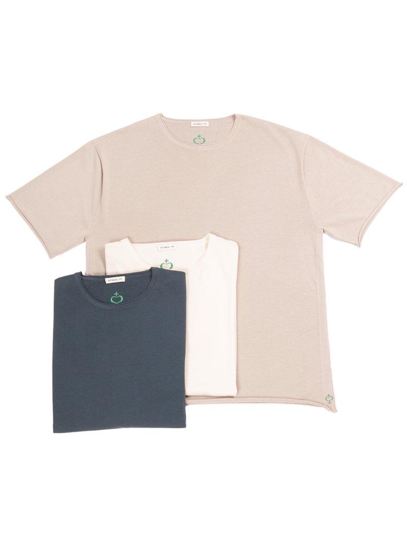 【SIDE SLOPE】<br>ボタニカルダイクルーネックニットTシャツ
