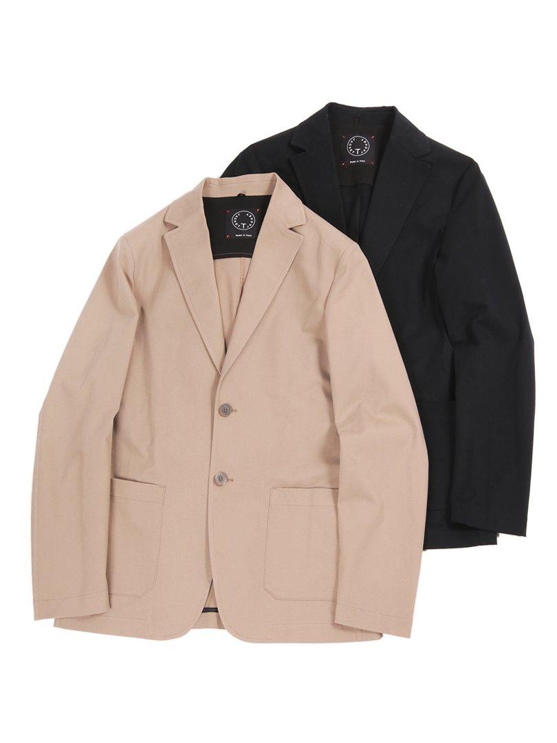 【T-JACKET】<br>ストレッチコットンツイル2Bジャケット