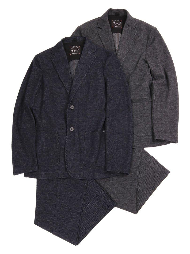 【T-JACKET】<br>コットンウールコーデュロイジャージスーツ