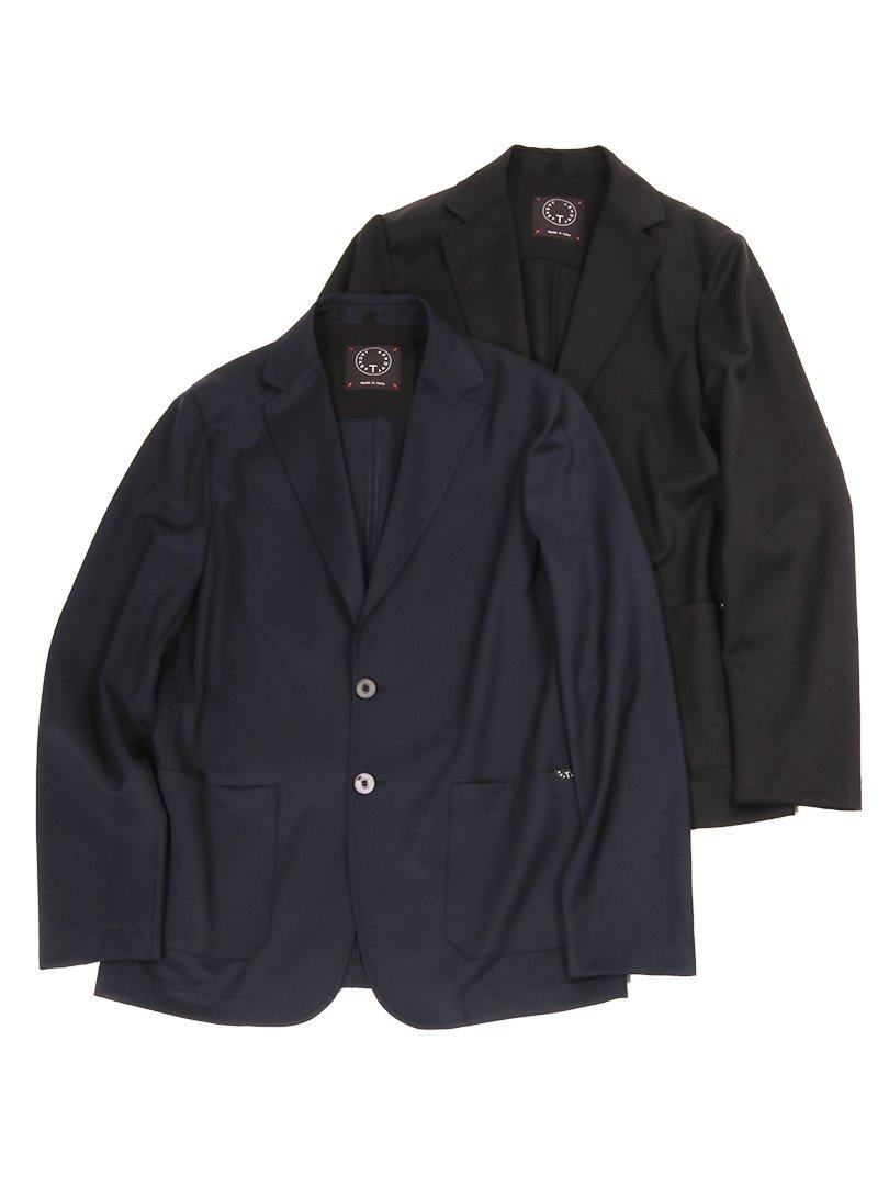 【T-JACKET】<br>ストレッチウールギャバジン2Bジャケット