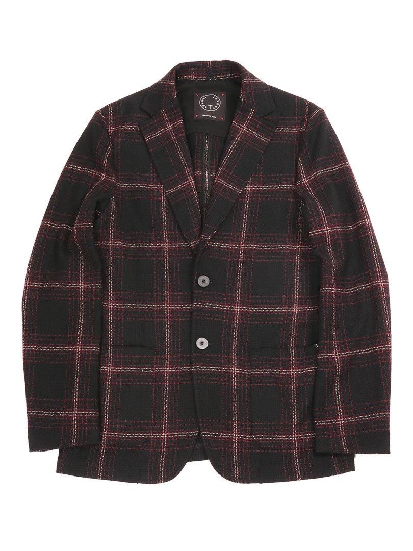 【T-JACKET】<br>タータンチェック2Bジャケット