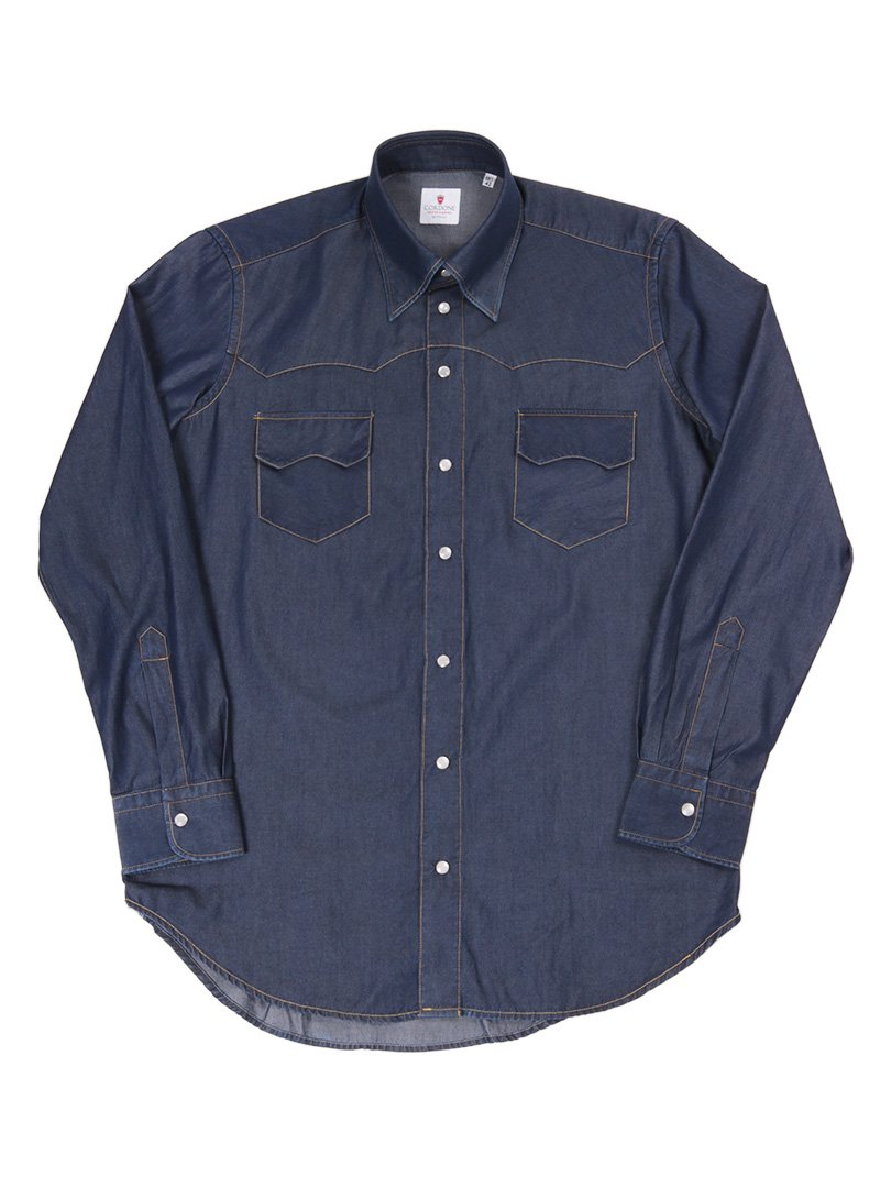 【Cordone 1956】<br>デニムウエスタンシャツ