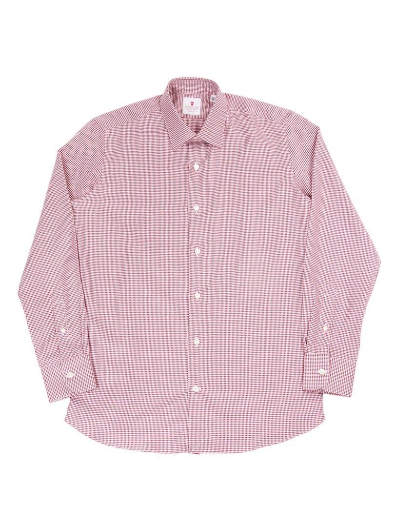 【Cordone 1956】<br>ハウンドトゥースレギュラーカラーシャツ