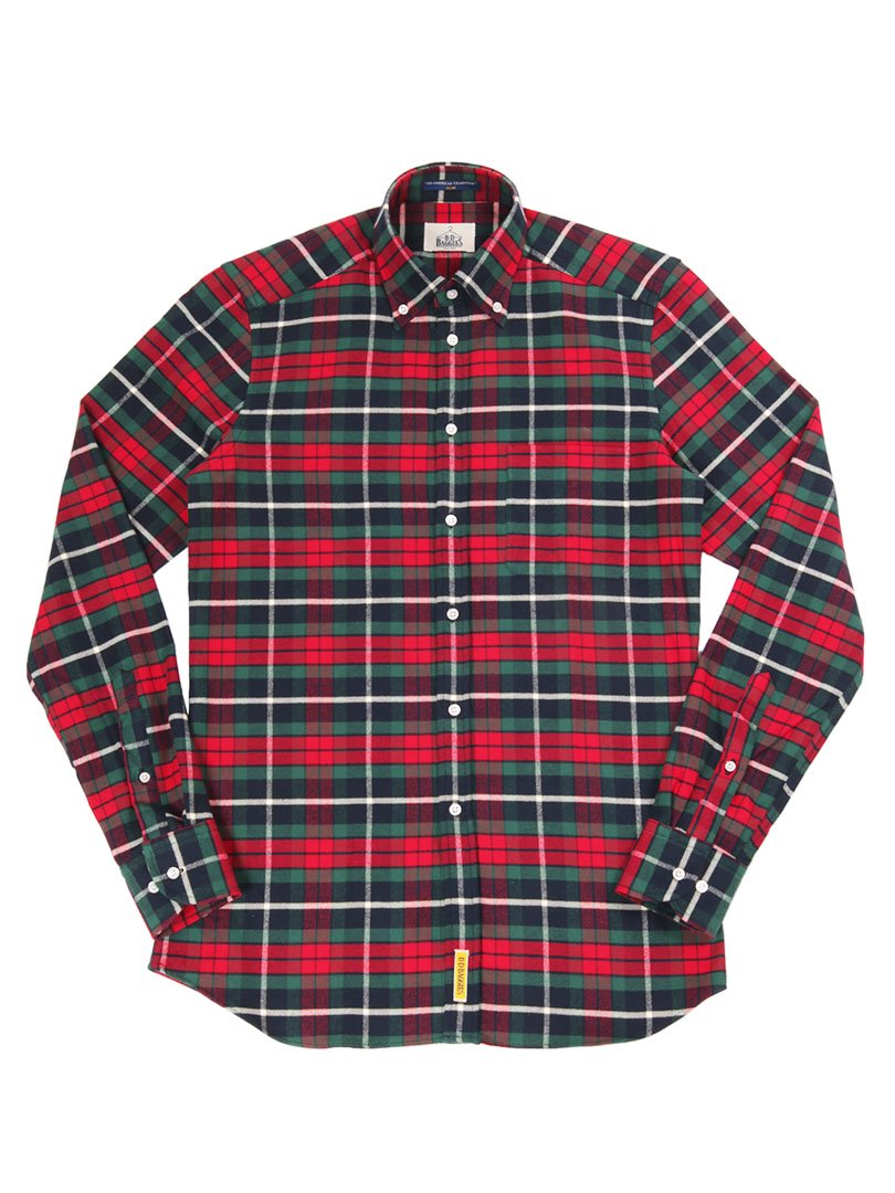 【B.D. Baggies】<br>DEXTER チェックボタンダウンシャツ