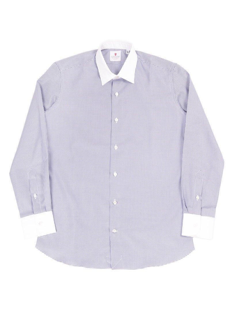 【Cordone 1956】<br>ハウンドトゥースクレリックシャツ