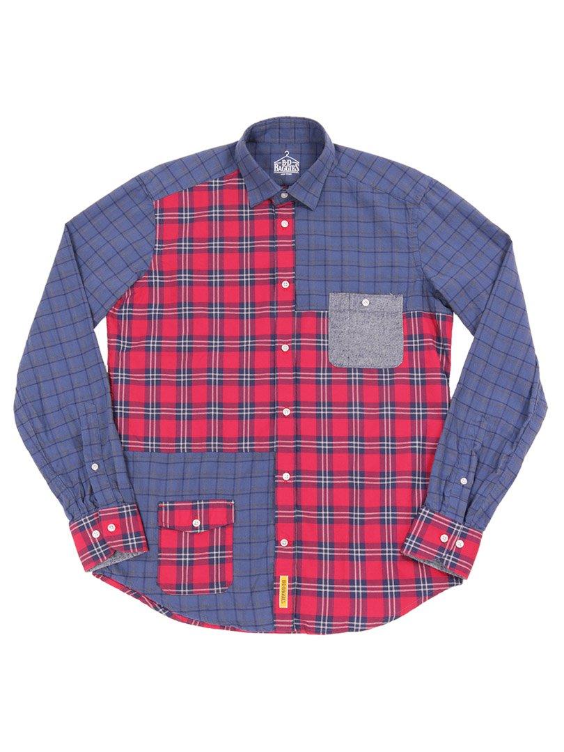【B.D. Baggies】<br>JACKSON パッチワークシャツ