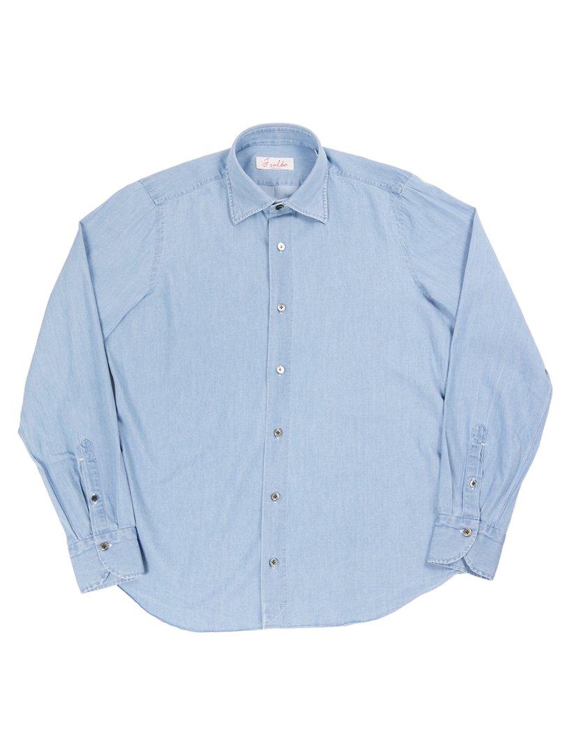【Fralbo】<br>シャンブレーレギュラーシャツ