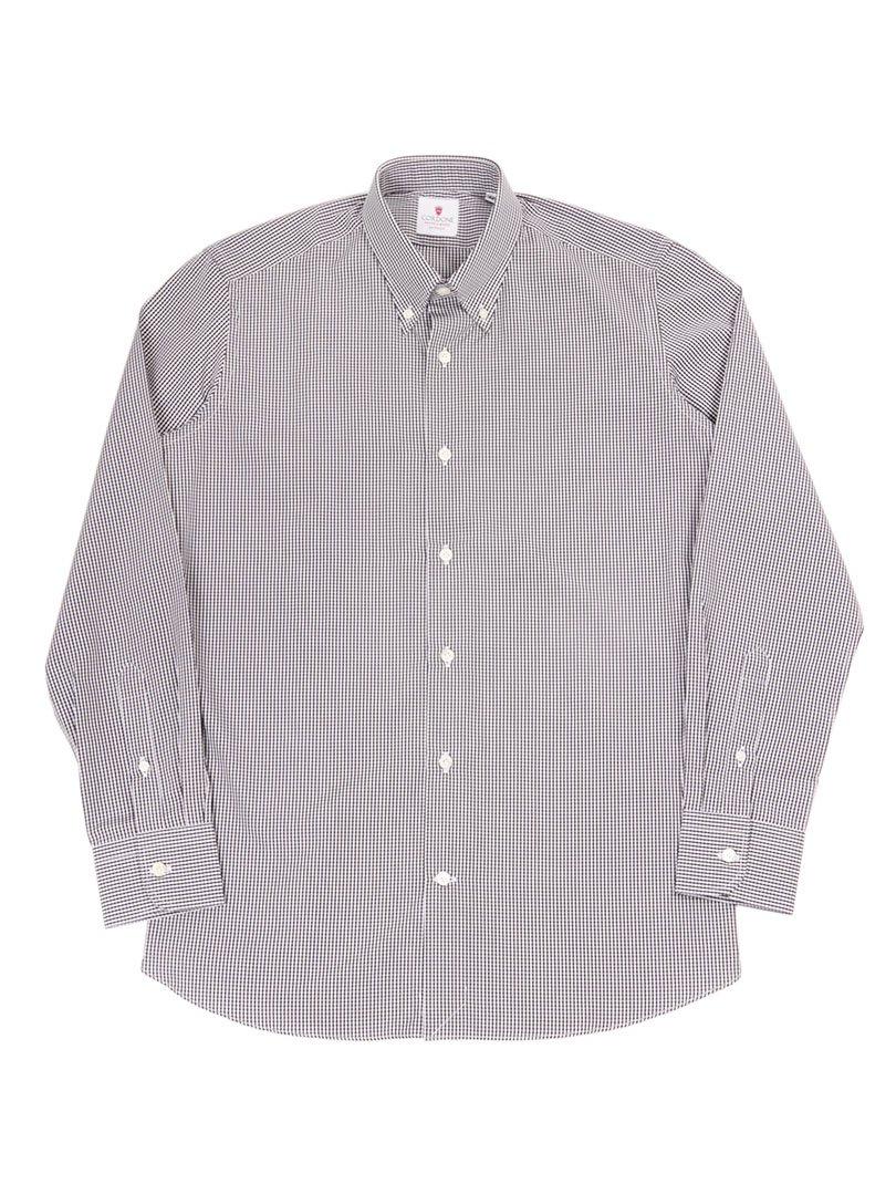 【Cordone 1956】<br>ギンガムチェックボタンダウンシャツ