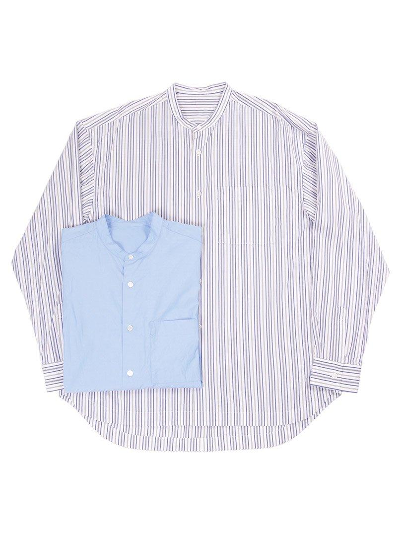 【GOODNEIGHBORS SHIRTS】<br>BAUSKIA バンドカラーワイドシャツ