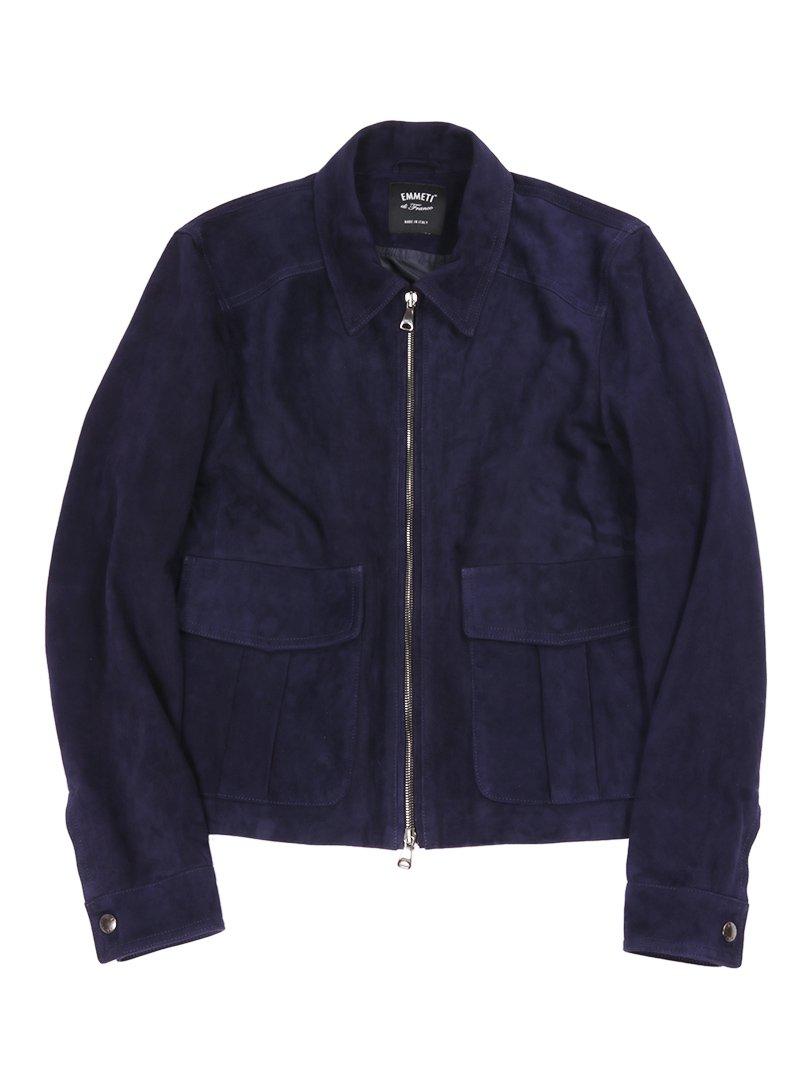 【EMMETI】<br>ゴートスエードA-2ジャケット COLIN