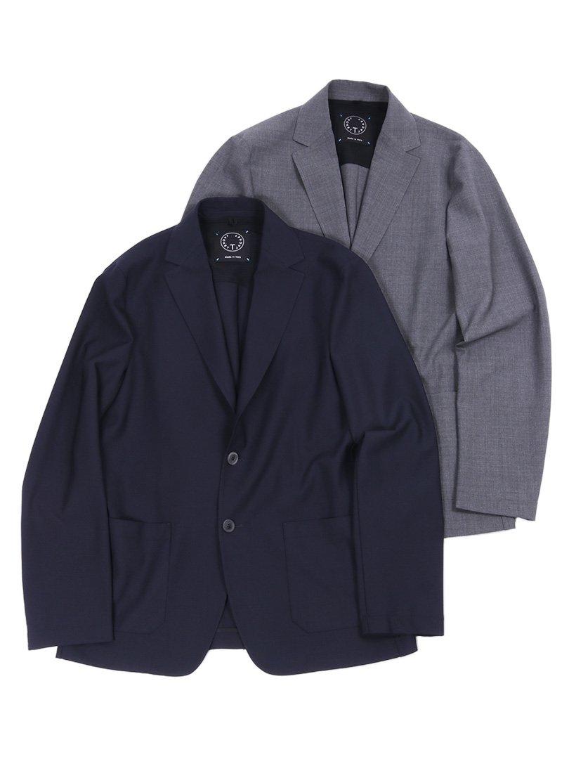【T-JACKET】<br>ウォッシャブルウール2Bジャケット
