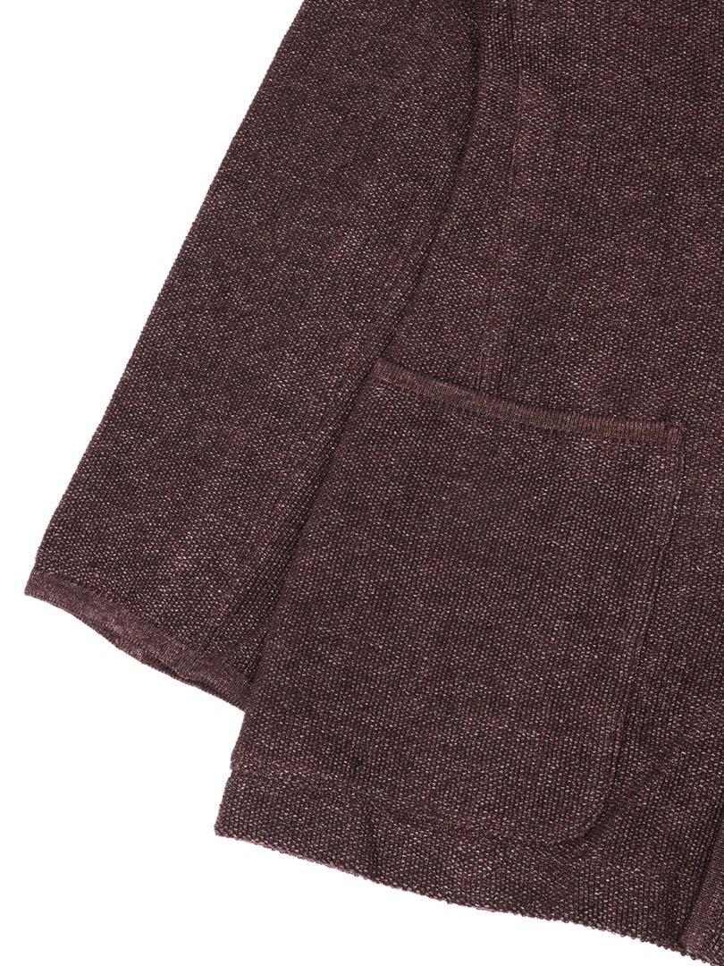 【SIDE SLOPE】リネン鹿の子ニットジャケット