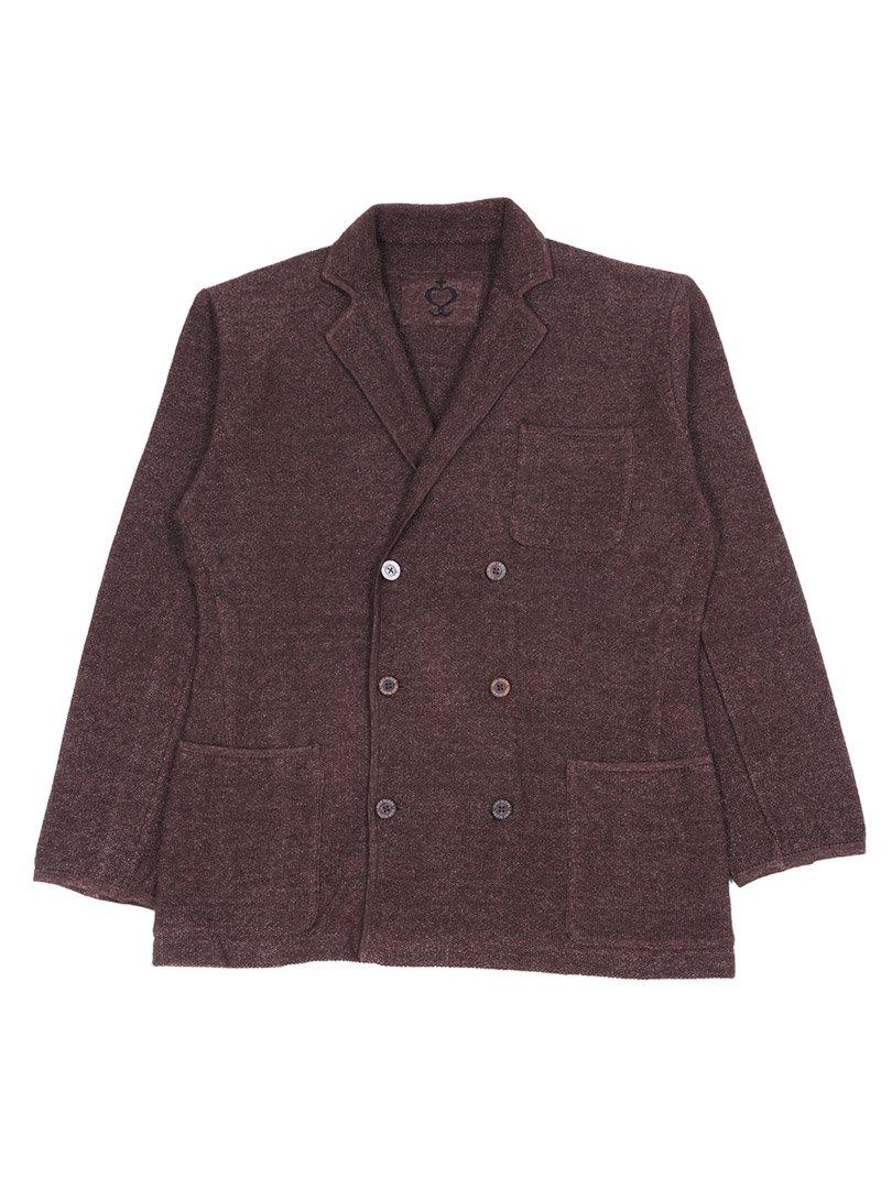 【SIDE SLOPE】<br>リネン鹿の子ニットジャケット