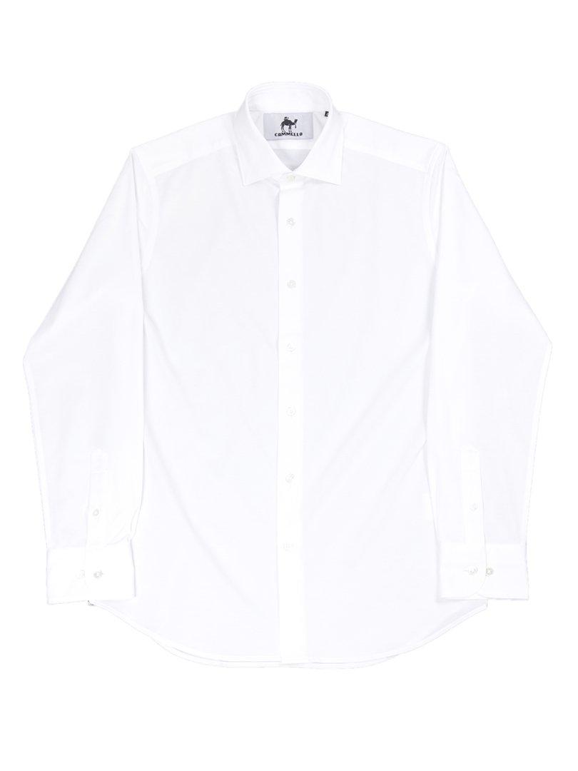 【CAMMELLO】<br>クールマックス鹿の子セミワイドカラーシャツ